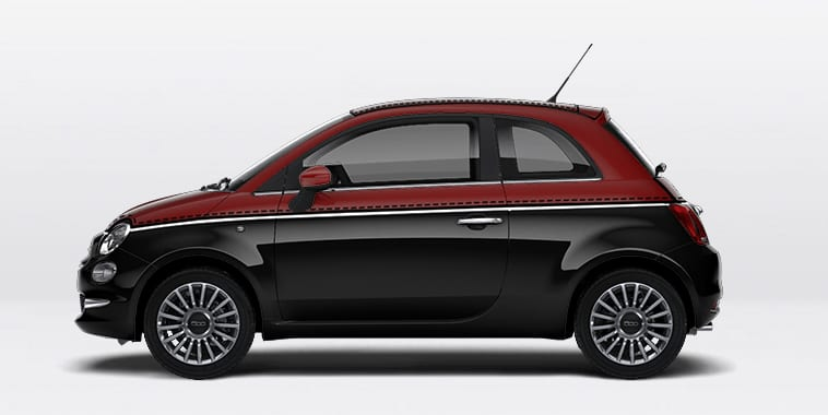 nouvelle fiat 500 noir rouge. Black Bedroom Furniture Sets. Home Design Ideas