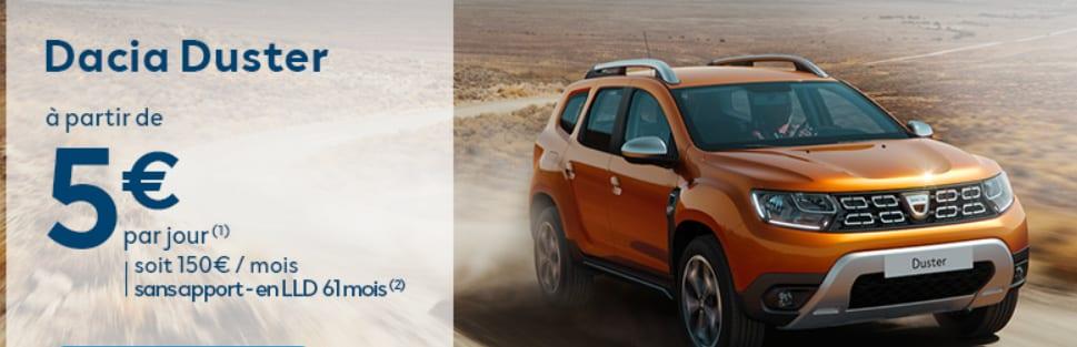 Votre Dacia neuve à partir de 3€/jour et sans apport