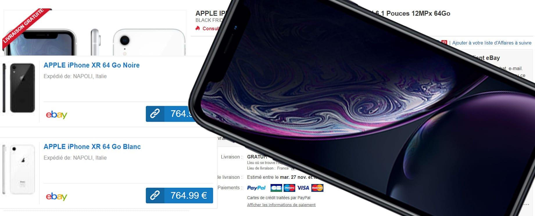 APPLE IPHONE XR à 765 Euros! BLACK FRIDAY 2018