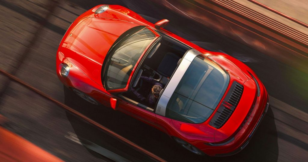Porsche 911 Targa 2020 Rouge